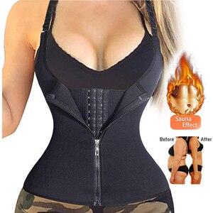 Image 1 - הרזיה חגורת תחתוני זיעה סאונה גוף Shaper מותן מאמן מחוכי דוגמנות רצועת תרמו הרזיה אפוד לנשים