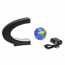C Shape led night light with Magnetic Levitation Floating World
