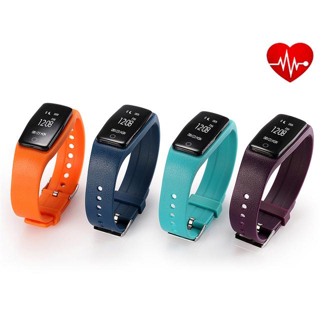 Monitor De Freqüência Cardíaca Do Bluetooth Pulseira Inteligente S1 Smartband Whatsapp Rastreador De Fitness Pedômetro Smartwatch Pulseira Para IOS Android