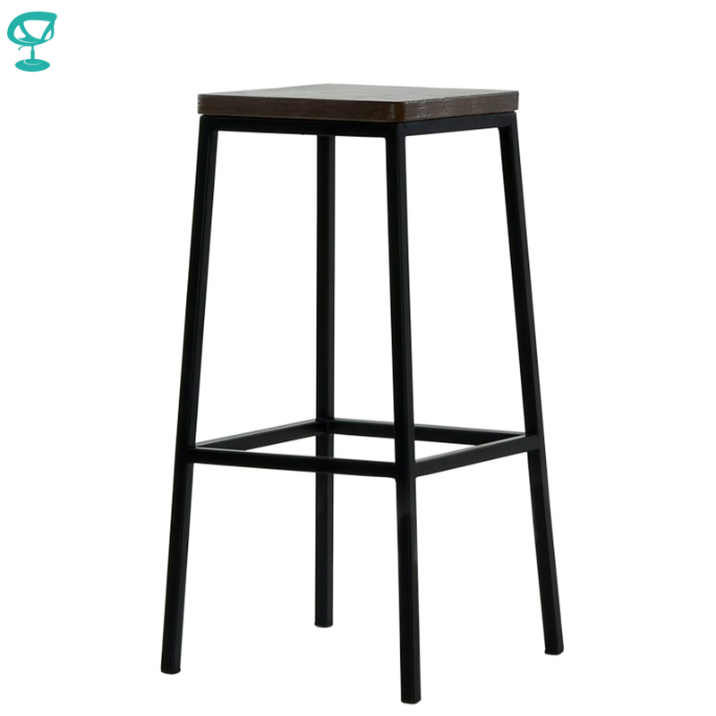 95376 Barneo N-301 High Metal Wood Kitchen Breakfast Interior Stool Bar Chair Kitchen Furniture Black Free Shipping In Russia