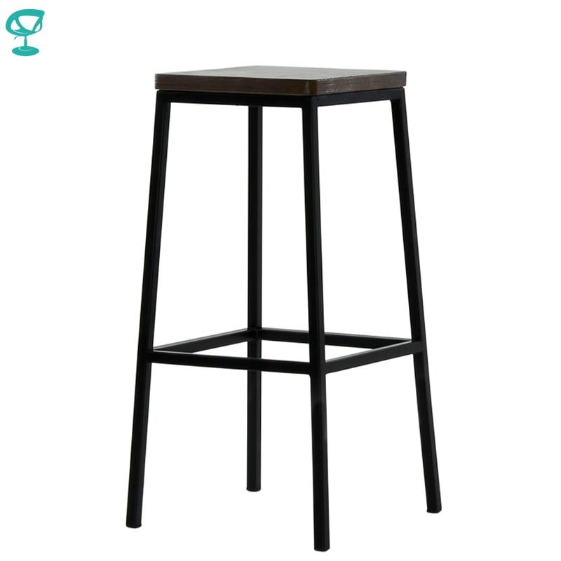 95376 Barneo N-301 High Metal Wood Kitchen Breakfast Interior Stool Bar Chair Kitchen Furniture Black Free Shipping In Russia
