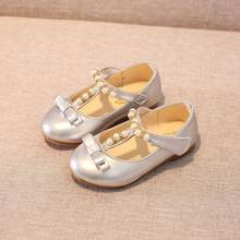 Girls White Dress Shoes Fashion Shoes PU Leather Korean Students 2 Color Baby  Party Shoes For Children Soft bd8c09d13452