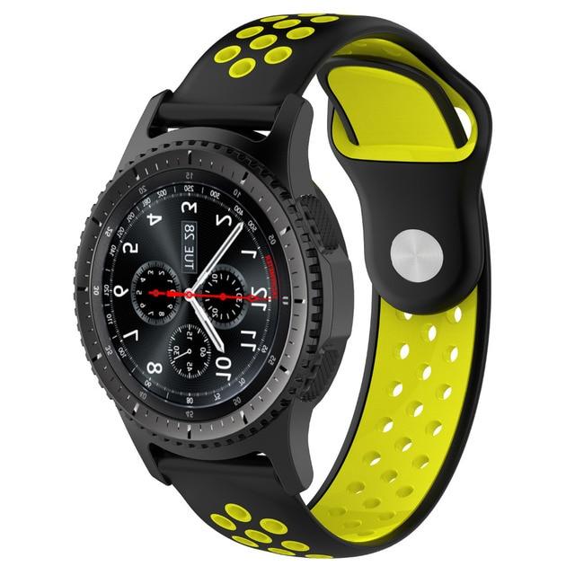 Aoow Silicone 22 Millimetri Cinturino Per Samsung Gear S3 Traspirante Sport Di R