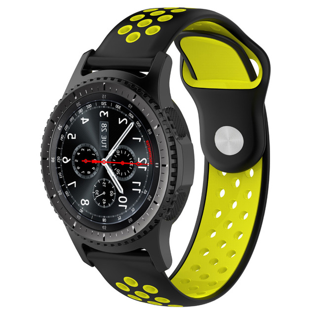 AOOW Silicone 22mm Watchband for Samsung Gear S3 Breathable Sport Replacement Br