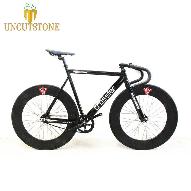 Fixed Gear Bike Fixie Frame 53cm 55cm 58cm  DIY 700C  Aluminum Alloy Bike Track Bike Bicycle 70mm Alloy  Wheel Bike