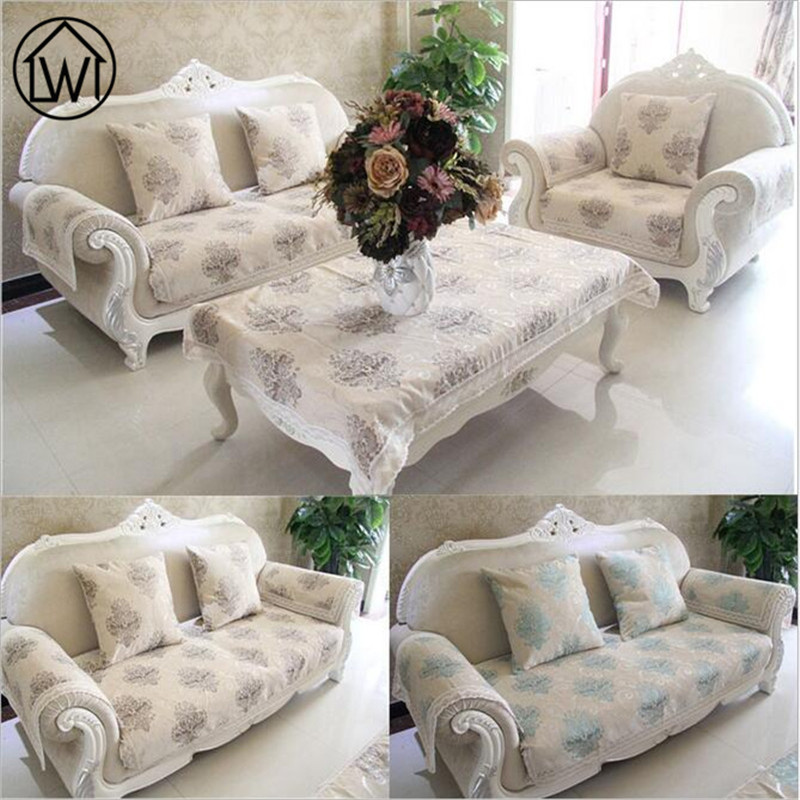 Lw european chenille sofa fabric cover jacquard couch for Canape sofa cover