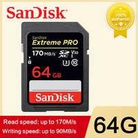 SanDisk Extreme PRO Carte Mémoire carte SD 64 GO 512 GO 128 GO 256 GB 32 GB Carte Mémoire U3 4k Haute Vitesse Classe 10 170 MB/s V30 pour appareil photo