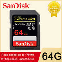 SanDisk Extreme PRO Scheda di Memoria SD Card 64GB 512GB 128GB 256gb 32gb Scheda di Memoria U3 4k Ad Alta Velocità Classe 10 170 MB/s V30 per la macchina fotografica