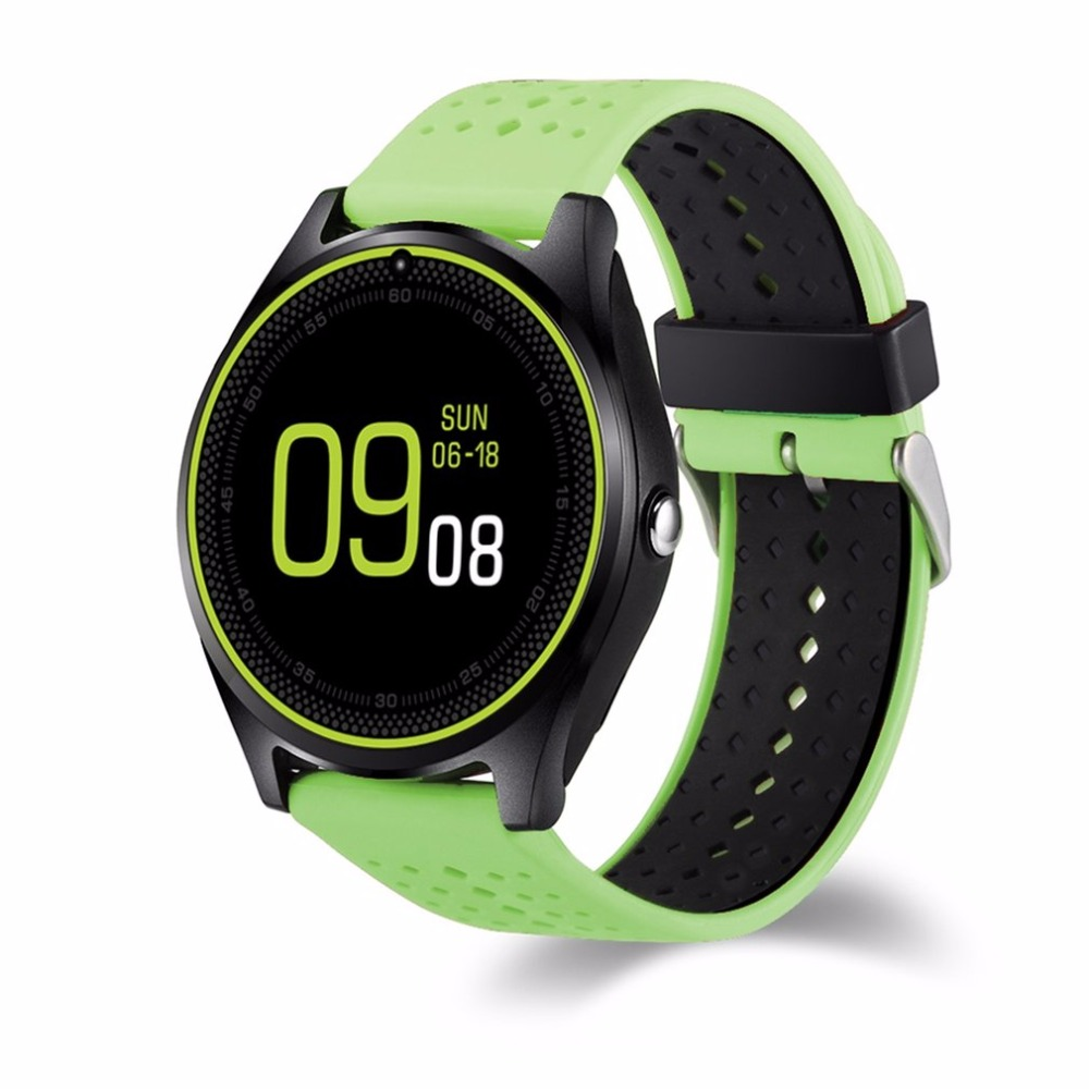 V9 Smart Watch with Camera Bluetooth Smartwatch SIM Card Wristwatch for Android Phone Wearable Devices