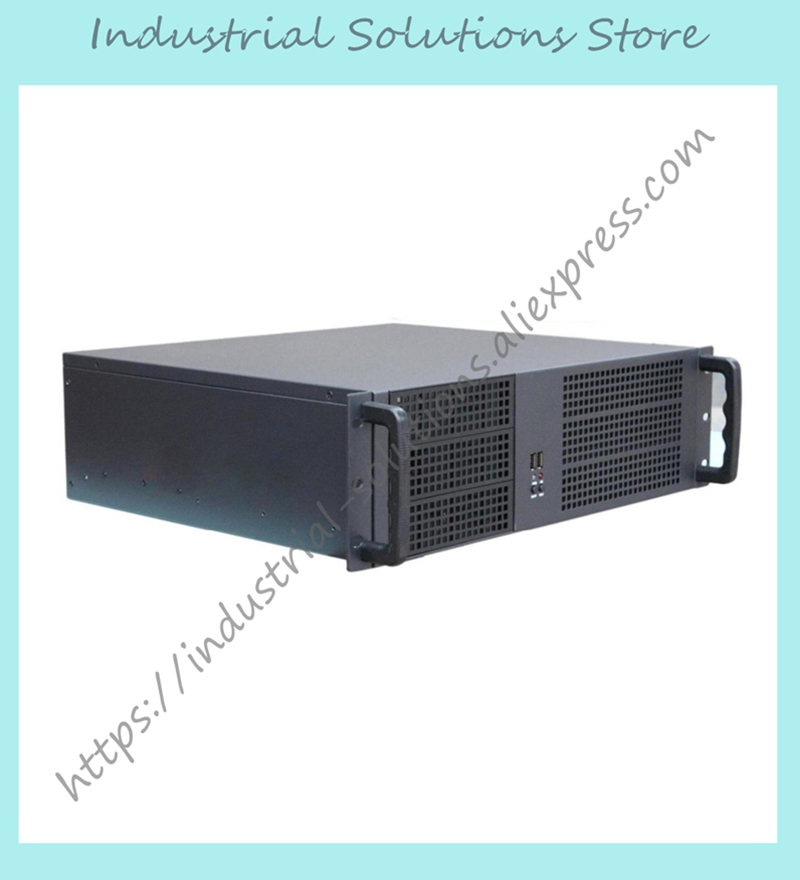 New 3U Server Computer Case 3U Monitor Big Motherboard Whole Factory Store new ultra short 3u computer case 38cm 8 hard drive pc large panel atx power supply 3u server industrial computer case