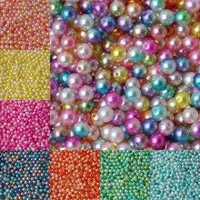 100 Pcs/lot 8 Mm Round Rainbow Warna Plastik Imitasi ABS Mutiara Manik-manik untuk DIY Gelang Perhiasan Membuat(China)