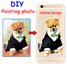 Custom illustrated DIY image Hand Drawn Dog hard phone case cover for Samsung s8 s9plus for iPhone 7 6s 8plus 5s X XS XR XSMAX