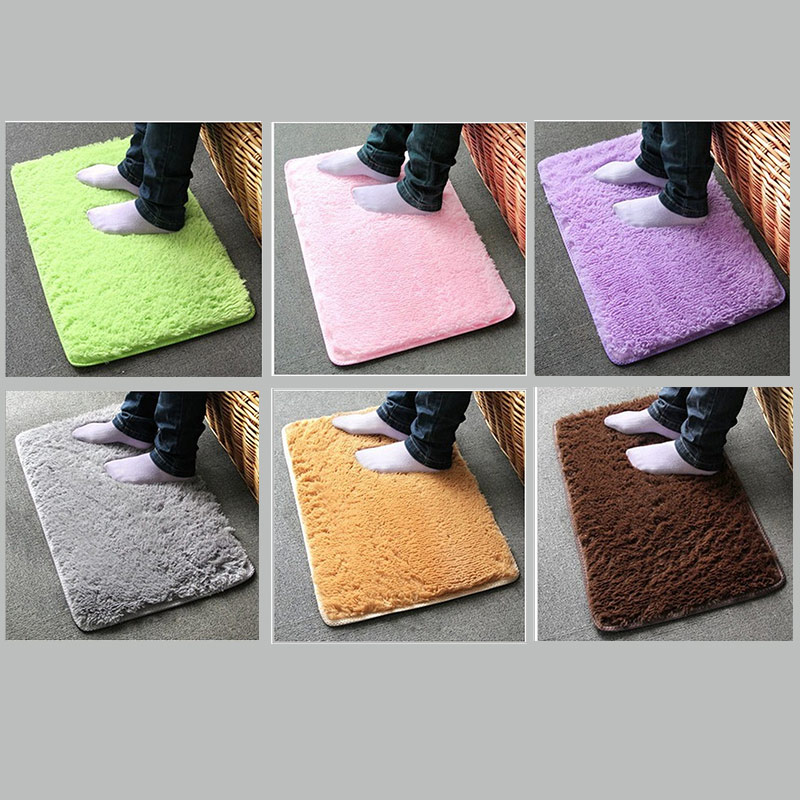 Plush Shaggy Soft Carpet Rugs Slip Resistant Floor Mats For Parlor Living Room Bedroom Home Hotel