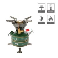 Camping Outdoor Stove Gasoline Stove Simple Oil Stove Non Preheating Fishing Picnic Furnace Boiler Cooker