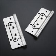 4inch 5inch Wooden Door Hinges Thickened 304 Stainless Steel Mother Hinges Furniture Hardware Free Slotted Mute 4 x4 x3mm stainless steel gold mute door hinges heavy duty hinges new