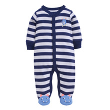 Unisex Baby Rompers Cartoon Animal Clothing Set Spring Girls Warm 100%cotton Clothes Boys Foot Overalls Newborn Infant Jumpsuit 3pcs rompers hat pants baby boys girls clothing set cute cartoon animal toddler jumpsuit infant cotton long sleeve kids clothes
