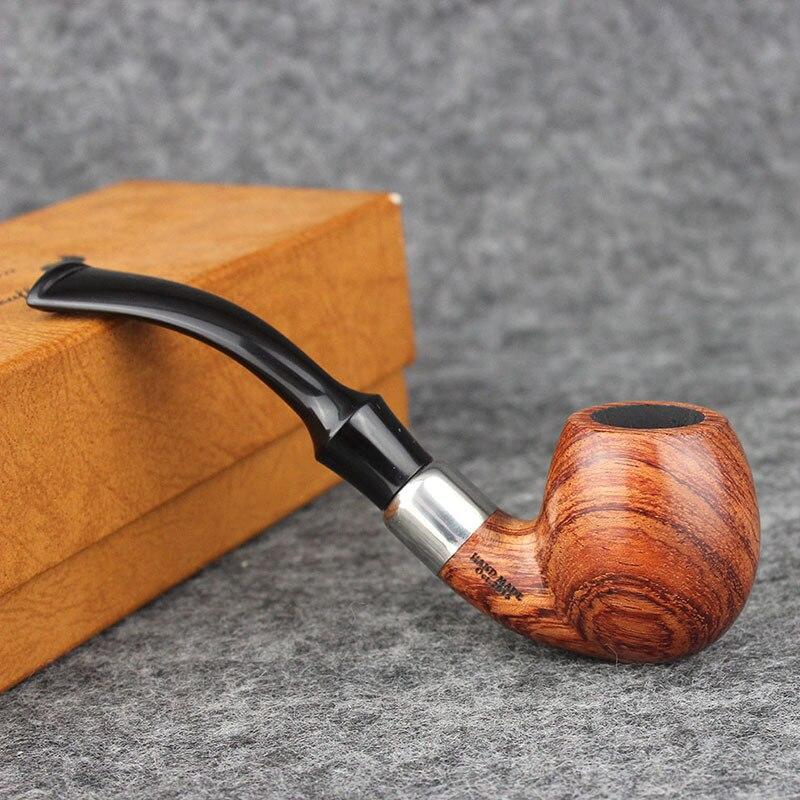Tubo piegato, Palissandro Tabacco Da Pipa, Annatto tubo diritto Fumatori strumento. tubo di legno, regalo degli uomini