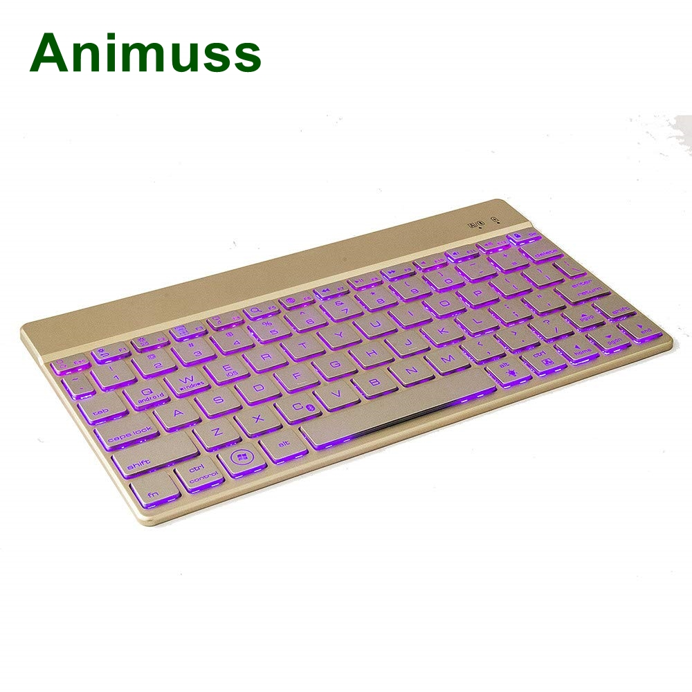 Animuss China factory sale aluminum wireless bluetooth keyboard for IOS for Android for Windows