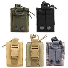 цена на Outdoor Package Pouch Tactical Sports Pendant Military Molle Nylon Radio Walkie Talkie Holder Bag Storage bag