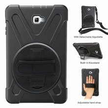 Shockproof Kids Case For Samsung Galaxy Tab A 10.1 2016 T580 T585 SM-T580 SM-T585 Defender Cover Kickstand Silicone Rubber Case цена и фото
