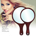 Высокое качество Мода, стиль Деревянные Зеркало Зеркало Для Макияжа Палисандр ручки Ретро подарок зеркало SE5