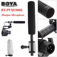 BOYA BY-PVM1000L Broadcast Unidirectional Condenser Interview Microphone Kit for Canon Nikon Sony DSLR Cameras / Camcorder