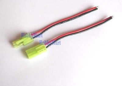 5 Pair of Green Mini.TAMIYA EL4.5 Male Female Connector with 22AWG Wire 200mm title=