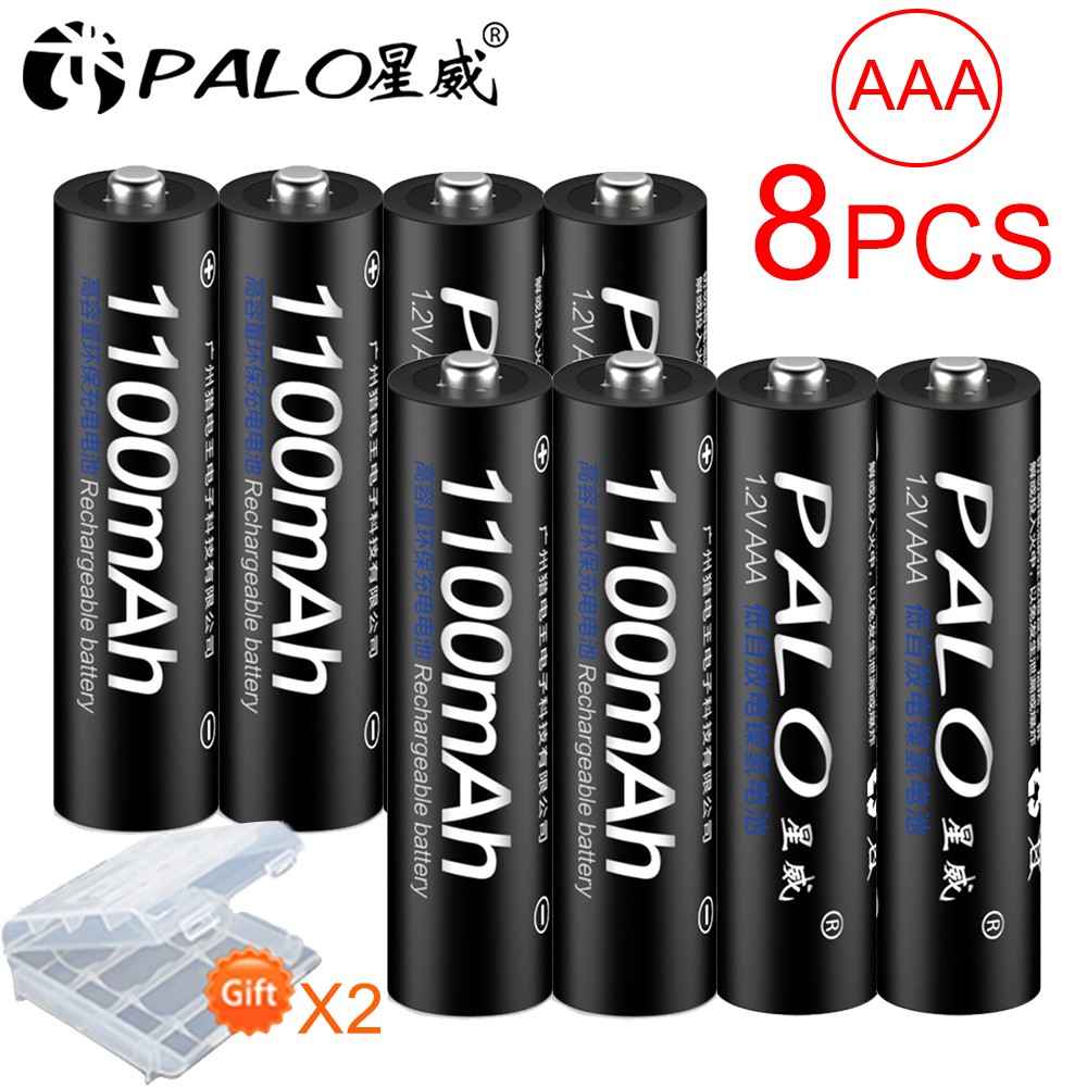 PALO 4/8/12/16/20/24Pcs AAA akku Ni-Mh 1,2 V 1100mAh 3A 3a akkus Batterie für fernbedienung spielzeug