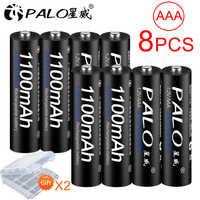 PALO 4/8/12/16/20/24Pcs AAA rechargeable battery Ni-MH 1.2V 1100mAh 3A 3a rechargeable Batteries Battery for remote control toy