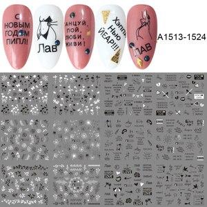 Image 4 - 36 個の花手紙ネイルステッカーデカール中空デザイン水転写ステッカーマニキュアラップ装飾スライダーセット LA974
