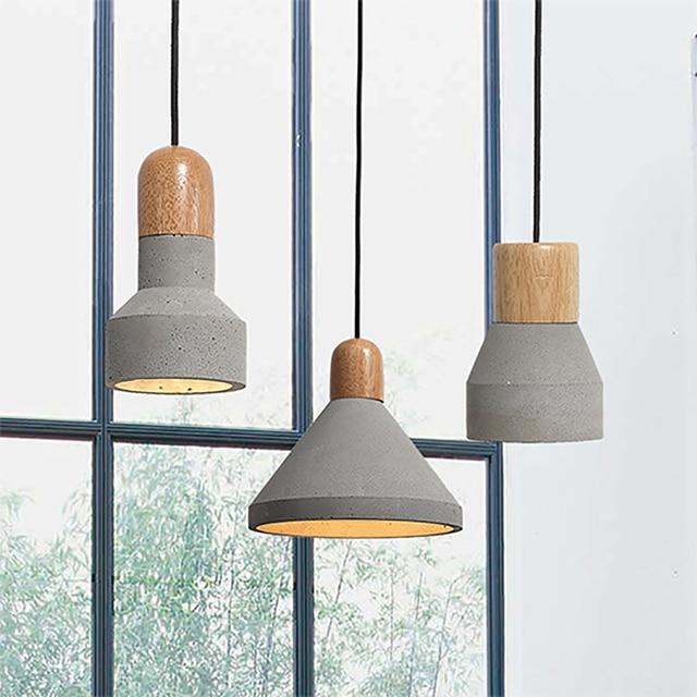 American Loft Vintage Industrial Concrete Table Light Edison Bulb  Decoration Pendant Lamp Home Decor Cafe Bar