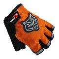 Peso guantes de elevación entrenamiento corporal edificio gimnasio guantes medio dedo de la aptitud Anti Slip Bar Grips Power Training ejercicio mitones