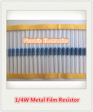 100pcs 47 ohm 1/4W 47R Metal Film Resistor 47ohm 0.25W 1% ROHS(China)