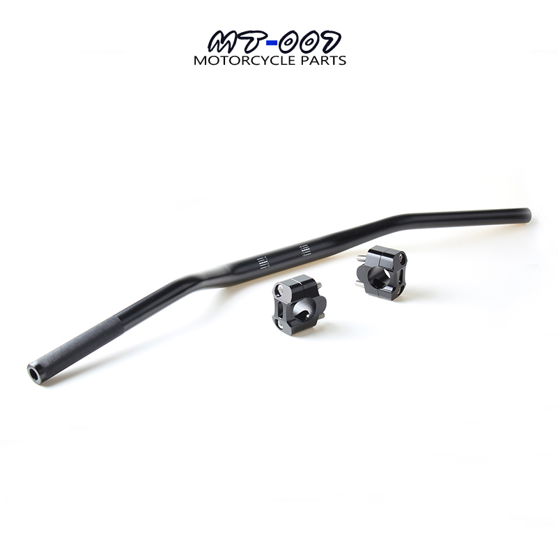 BLACK 1 1/8 28mm Fat Handle Handlebar MX Motocross Pit Pro Dirt Bike with fat bar clamp riser For Thumpstar SSR Motorcycle