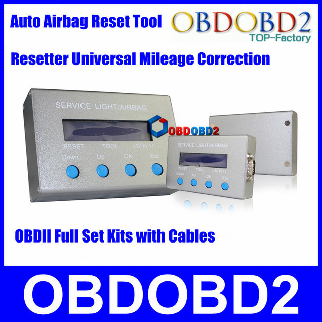 DHL Free Shipping 10 IN 1 Airbag Resetter Diagnostic Interface Oil Service Light Universal 10 IN 1 For Mileage Correction