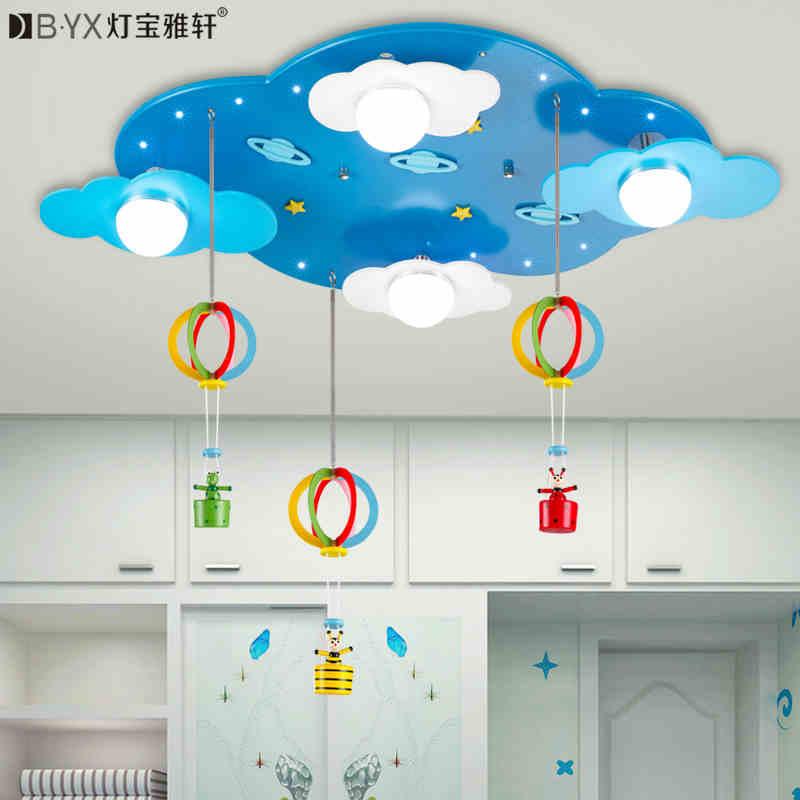 2016 new Childrens bedroom cartoon LED ceiling lights male girl room stars clouds warm creative lighting