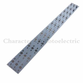 цена на 10pcs 30CM x 1CM Aluminium PCB Circuit Board for 12 x 1w,3w,5w LED in Series