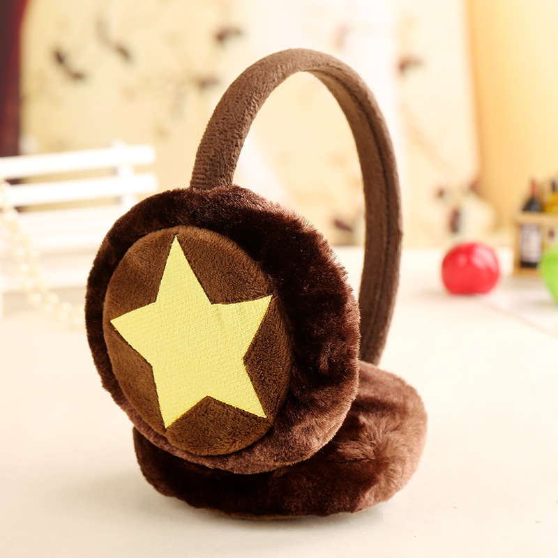 Cute Rabbit Fur Winter Earmuffs For Children Star Warm Earmuffs Ear Warmers Gifts For Girls And Boys Cover Ears Fashion Hot Sale