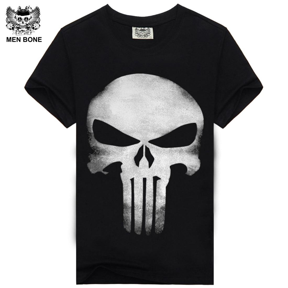 [Mannen bone] Hot 100% Katoenen T-shirt Mannelijke Modemerk rock - Herenkleding - Foto 5