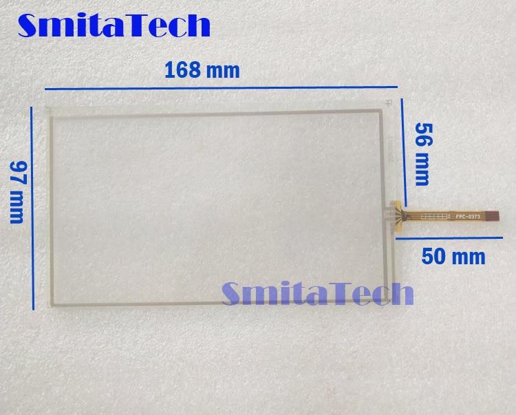"""7,0 """"дюймовый 4 провода резистивный сенсорный экран ZCR-1333 автомобиль DVD экрана навигации 168 мм * 97 мм"""