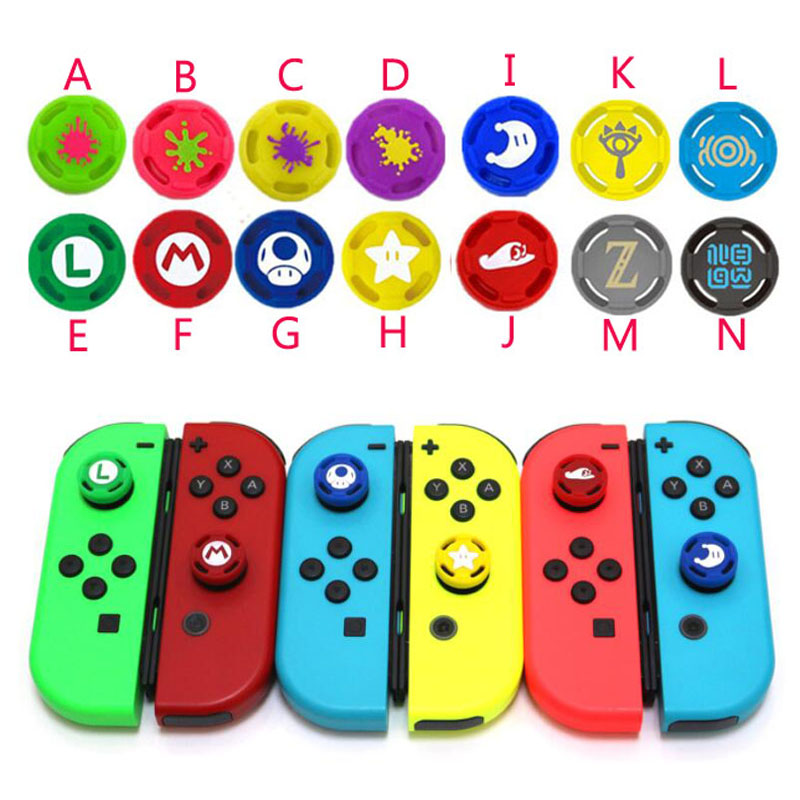 Silicone Thumb Stick Grip Cap Analog Joystick Cover Case For Zelda Mario Nintend Switch Lite NS JoyCon Controller Joy-Con Joypad