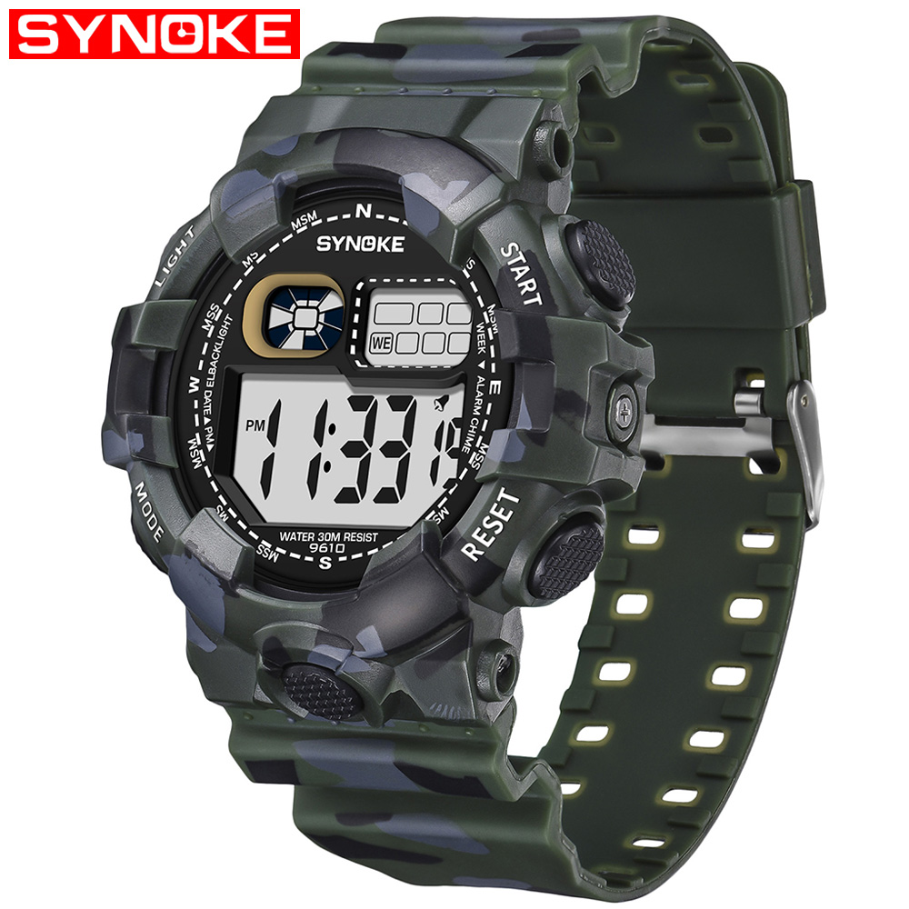 SYNOKE Men Sport Student Watch Kids Watches Boys Clock 2019 LED G Digital Wristwatch Shock Electronic Watch For Boy Girls