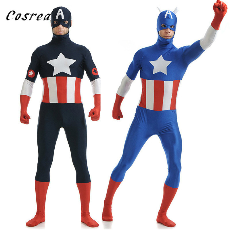 Movie Captain America Cosplay Costume Mask Suit Civil War The Avengers Superhero Halloween Party Costumes for Men Adult kids