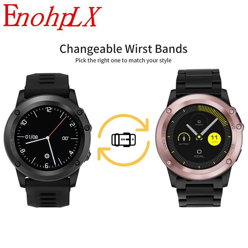 EnohpLX H1 Smart Watch H1 Android System 4.4 Positioning Dual-Core Ip68 Waterproof Smart Watch high quality fashion smart Watch smart watch