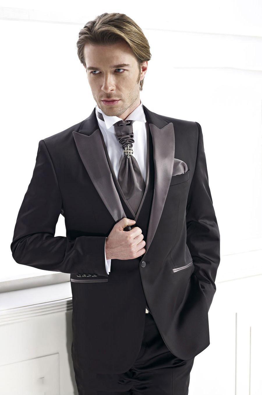 Jauns ierašanās līgavainis tuksnesis melnā groomsmen pasūtījuma - Vīriešu apģērbi