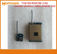 Free Ship TX6729 RX6788 2 4G Remote Wireless Video Module Suit Wireless Audio And Video Transmission