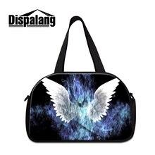 0426269ba69d Dispalang trendy women travel luggage handbags lightning butterfly print  duffle bags for girls casual weekend bag