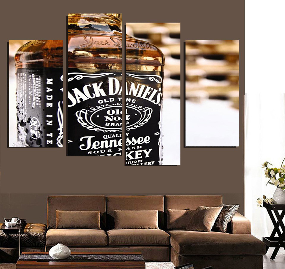 89 jack daniels home decor hd wallpapers jack daniels home decor hd printed canvas painting 4 piece art jack daniels whiskey decoration poster wall picture for living arubaitofo Gallery