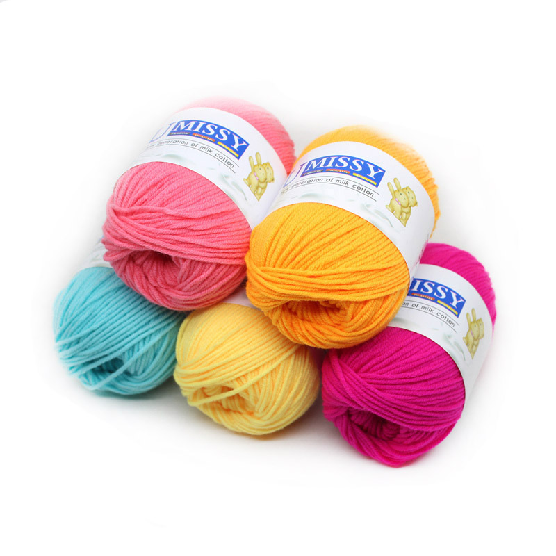 1pc Croche Knitting Yarn Cotton Baby Milk Yarn Cotton Crochet Thread Hand Knitting Wool Line Baby Children