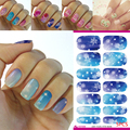 Inexpensive 5pcs Fantasy 3D Effect Water Transfer Decals Nail Stickers Nail Polish Tips Nail Art Popular
